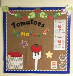 Tomato vegetable bulletin board, bilingual. Food Hero - foodhero.org