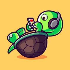 Cute Turtles, Yoshi, Fictional Characters, Art, Art Background, Kunst, Performing Arts, Fantasy Characters, Art Education Resources