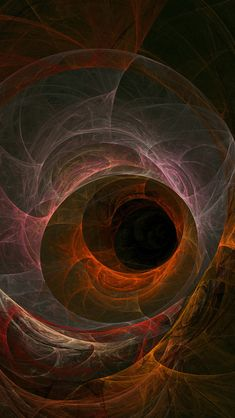 Black Hole Abstract iPhone Wallpaper