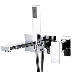 Cast Bath Shower Mixer Tap + Shower Kit