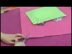 No-Sew Fleece Hat, Scarf & Pillow : Cutting Fringe on a No-Sew Fleece Pillow