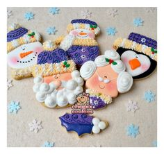 Purple Christmas cookie set | Cookie Connection
