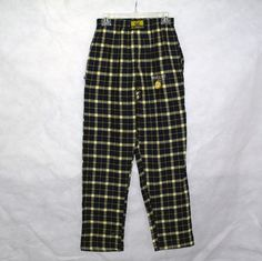 Cal UC Berkeley Blue Yellow Plaid Pajama Pants Size S | eBay