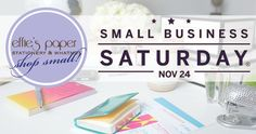 November 24th is Small Business Saturday - go big by shopping online at one of your favorite small retailers - http://effiespaper.com!       Take 30% off of our personalized stationery & gift items ALL DAY TODAY when you use the promo code SBS12.   When we all shop small, it will be HUGE!
