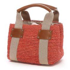 Topkapi TOPKAPI rafia Italia mini bag nastro tote (rosa) - sito di shopping di scarpe e moda Rokondo