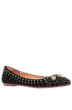 The Surya Lion Flat in Black and Gold by Jeffrey Campbell