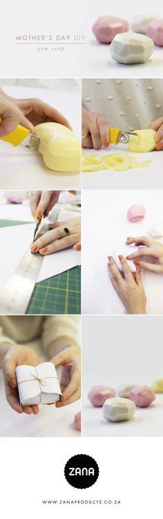 DIY Mother's Day Gem Carved Soaps // Zana