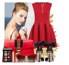 """""""Nice to meet you"""" by maryterojasf ❤ liked on Polyvore featuring Gucci, Bobbi Brown Cosmetics, Miu Miu, Panacea, Dolce&Gabbana and BERRICLE"""
