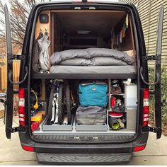 I spy lots of toys. @permanentroadtrip shows off their garage. ----------------------- Show off your Sprinter Van! Tag #sprintercampervans to be featured! -----------------------