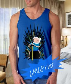 Jake game of thrones adventure time, Screenprint, mens tank top tanktop, Size S-2XL