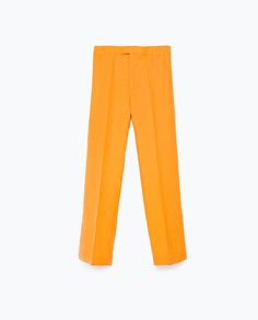STRAIGHT CROPPED TROUSERS-View all-Trousers-WOMAN | ZARA United Kingdom