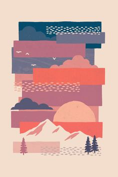 Wild Oak — Hollow Falls Currently being carressed with an photograph hit bottom the space Art And Illustration, Creative Illustration, Landscape Illustration, Graphic Design Illustration, Kunst Inspo, Art Inspo, Animes Wallpapers, Cute Wallpapers, Posca Art