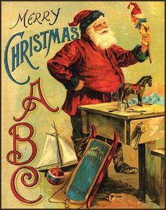 Carolyn Wells, Merry Christmas ABC, New York: McLoughlin Bros, c1900.