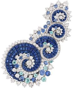 Van Cleef, Seven Seas collection brooch #goldbrooches #diamondbrooches