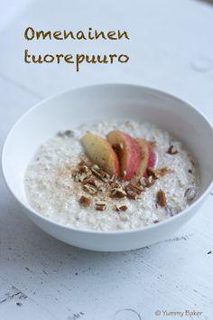 Aamupalapöytäämme on tullut uusi hurmaava tulokas, joka koukuttaa hyvällä maullaan ja helppoudellaan. Omenainen tuorepuuro maistuu aamiaisella raikkaan tuoreelta ja on sopivan täyttävää. Parasta tu…