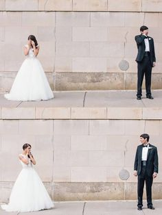 """The first time you see your bride or groom on your wedding day can be very emotional. All the planning, anxiety and excitement is built up into one overly joyful moment known as the """"first look."""" These photographers have captured the real, spontaneous emotion from couples on their wedding day. Grab your tissues because here are 20 of our favorite first looks – you know, in case you've been craving a good cry lately."""