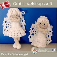 DIY & Crafts: Wonderful DIY Crochet Christmas Ornaments With Free Pattern Angel Crochet Pattern Free, Crochet Angels, Easy Crochet Patterns, Crochet Patterns Amigurumi, Diy Crochet, Free Pattern, Crochet Bunting, Christmas Angel Crafts, Crochet Christmas Decorations