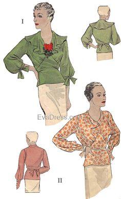 1934 Blouses, B30-1465