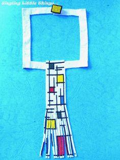 I like Mondrian  handmade necklace by RattleTattleAround on Etsy, $150.00 Handmade Necklaces, Handmade Gifts, Mondrian, Like Me, Stitches, Beading, Symbols, Dreams, Unique Jewelry