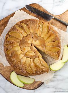 Maple Apple Upside Down Cake ~ http://www.garnishwithlemon.com
