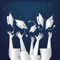 Vektörel Çizim | Mezuniyet, Kep Atma Töreni Vektörel Görselleri Funny Graduation Caps, Graduation Theme, Graduation Cap Designs, Graduation Table Decorations, Cap Decorations, School Decorations, Fall Arts And Crafts, Crafts For Kids, Elegant Nails
