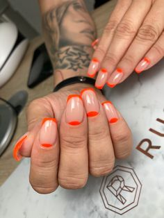 Orange, Nails, Beauty, Instagram, Finger Nails, Ongles, Nail, Sns Nails