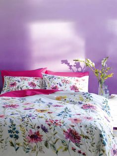 Colourfield Floral Print Bedset