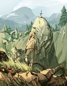 Legend of Zelda Breath of the Wild Fanart.