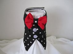 Dog Vest XXS Black with white polka dots  By by NinasCoutureCloset, $20.00 Dog Vest, Baby Car Seats, Sewing Projects, Polka Dots, Cute Outfits, Bows, Couture, Yorkies, Dog Houses