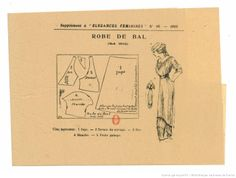 Pattern from Élégances féminines. Revue mensuelle de la grande couture parisienne 1912.
