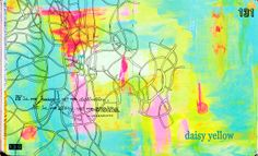 mappy lines in art journal by Tammy at Daisy Yellow