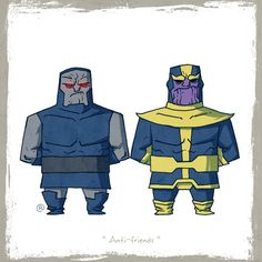 Little friends: Darkseid and Thanos by Rawlsy.