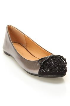 Wild Diva Starla-91 Flats In Pewter - Beyond the Rack
