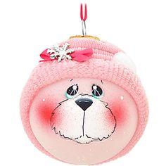 Pink Polar Bear SockHead™ Glass Ornament - 1158942 - $21.99