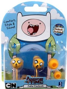 *Unique Earbuds With Your Favorite Adventure Time Character *Comfort Style And Sound *Extra Earbuds Included *Perfect for the iPod iPad iTouch Zune And Much More *Officially Licensed And Brand New In