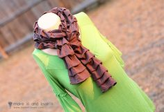 pleated knit scarf...