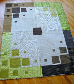 The quilt police wouldn't like this because it's not quilted evenly but I LOVE it!  Great texture!