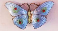 Vintage Silver and Enamel Butterfly Brooch   eBay ja&s