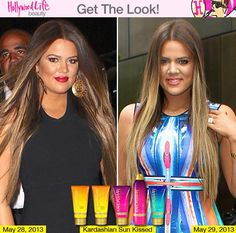 Get Khloe's look with Kardashian Glow and Kardashian Sunkissed! Seriously who wouldn't?