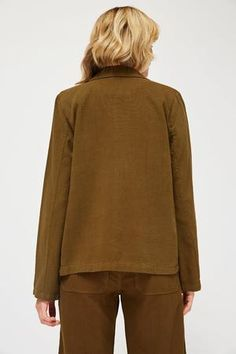 c977d87ad53b1 Lacausa Clare casual light Jacket scout olive green