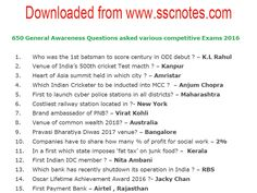 650 General Awareness Questions and Answers were asked various competitive Exams 2016 PDF Download Gk Question In Hindi, Question And Answer, Gernal Knowledge, General Knowledge Facts, Effective Study Tips, Ias Study Material, Gk Questions And Answers, Previous Year Question Paper, Exams Tips