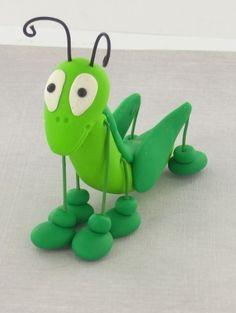 Grasshopper Clay Tutorial (will use fondant/gumpaste)