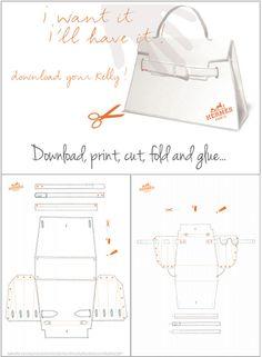Hermes Kelly Bag Pattern tutorial