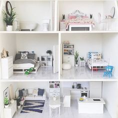 dollhouse furniture Modern dollhouse inspiration, DIY dollhouse furniture, modern dollhouse furniture to buy (make your own dollhouse furniture, dollhouse ren Modern Dollhouse Furniture, Diy Barbie Furniture, Mini Doll House, Barbie Doll House, Doll House Plans, Miniature Houses, Diy Dollhouse, Dolls, Parenting Quotes