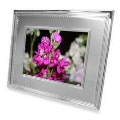 Vera Wang Grosgrain 8-Inch Digital Photo Frame - BedBathandBeyond.com I WOULDN'T PAY THIS MUCH!!!!