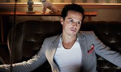 """The super villain: Andrew Scott  Andrew Scott declares his role in BBC's Sherlock as arch-nemesis Jim Moriarty to be an absolute blast. """"Every time he appears he gets great stuff to do. You get real bang for your buck."""""""