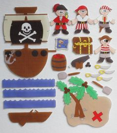A Pirates Life - ePattern for Print and Play Felt Figures