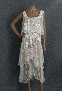 1920s lace tea dress