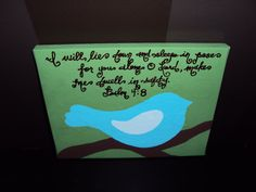 Custom 8x10 Canvas hand painted personalized by WigglesGiggles, $18.00