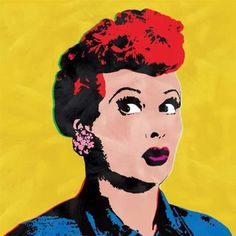 I Love Lucy Andy Warhol Style Pop Art Yellow Canvas Wall Painting - Listing price: $49.99 Now: $28.99